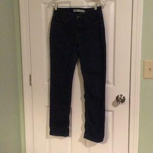Levi straight blue jeans size 4